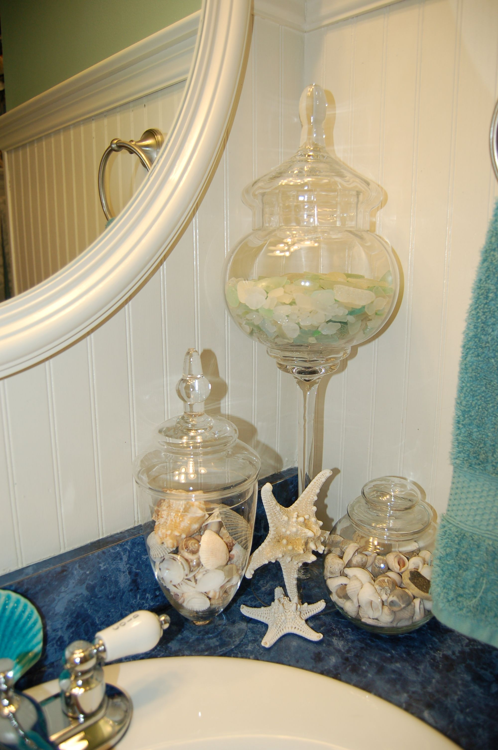 color inspiration collected sea glass home decor