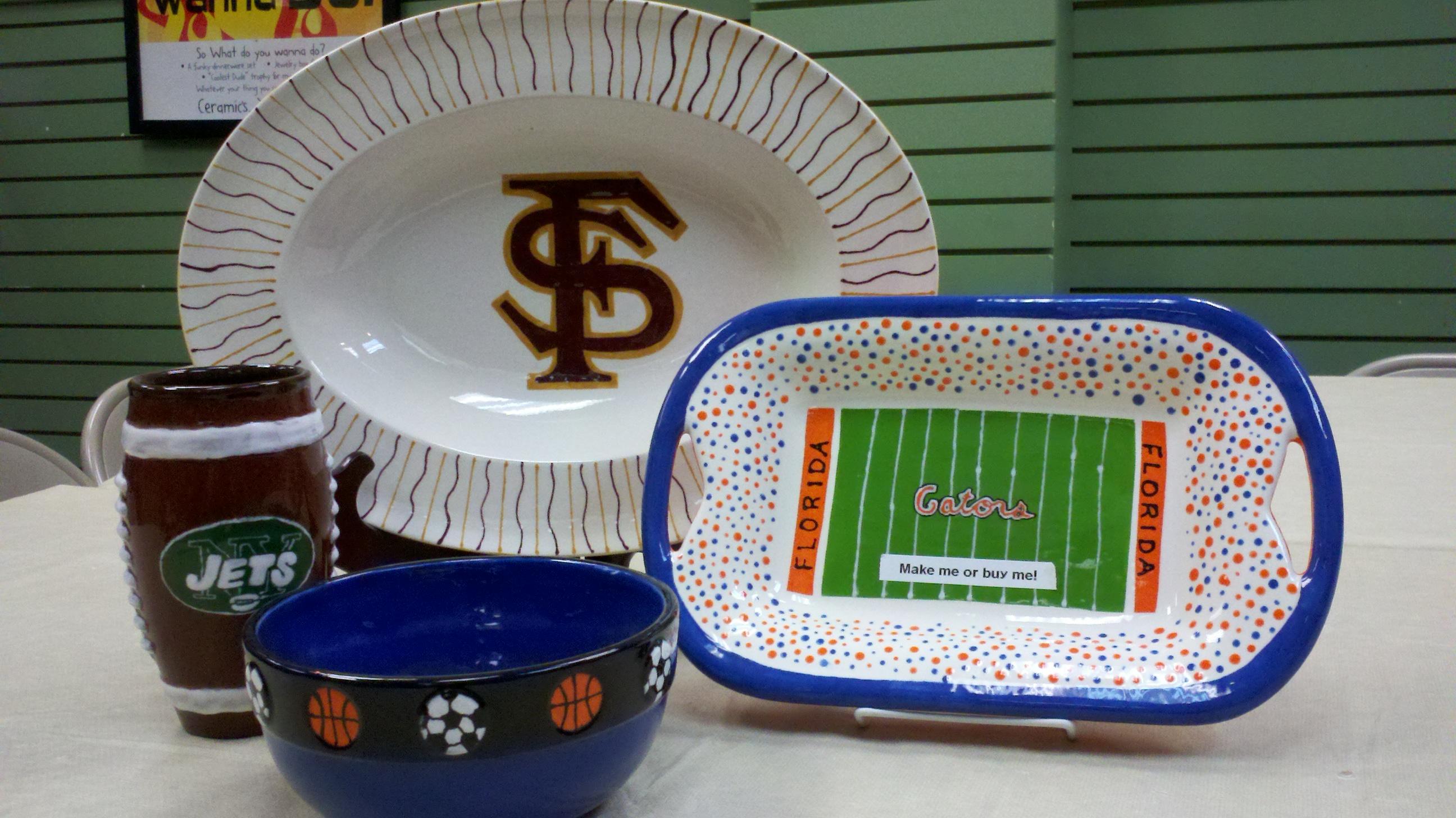 Sports fan no problem creative pottery painting ideas for Creative pottery painting ideas
