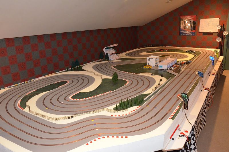 Track idea Slot Cars MDF routed track ideas Pinterest