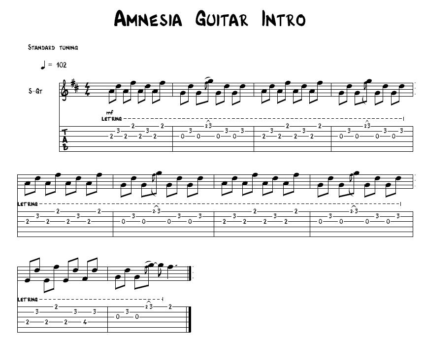 5 Seconds To Summer Amnesia Tab | Yoktravels.com