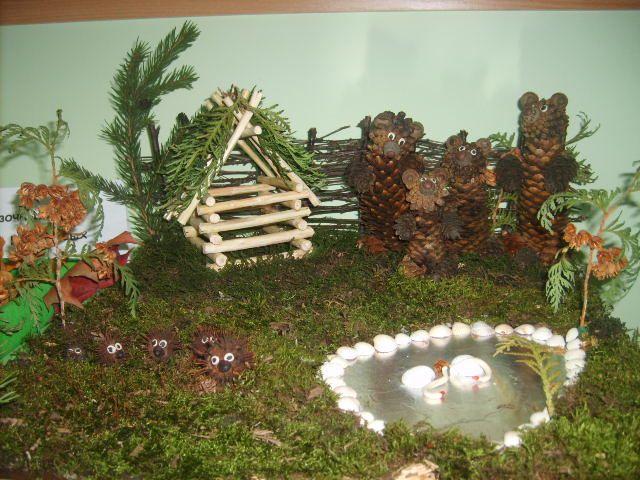 Поделки из природного материала для детского сада мастер класс