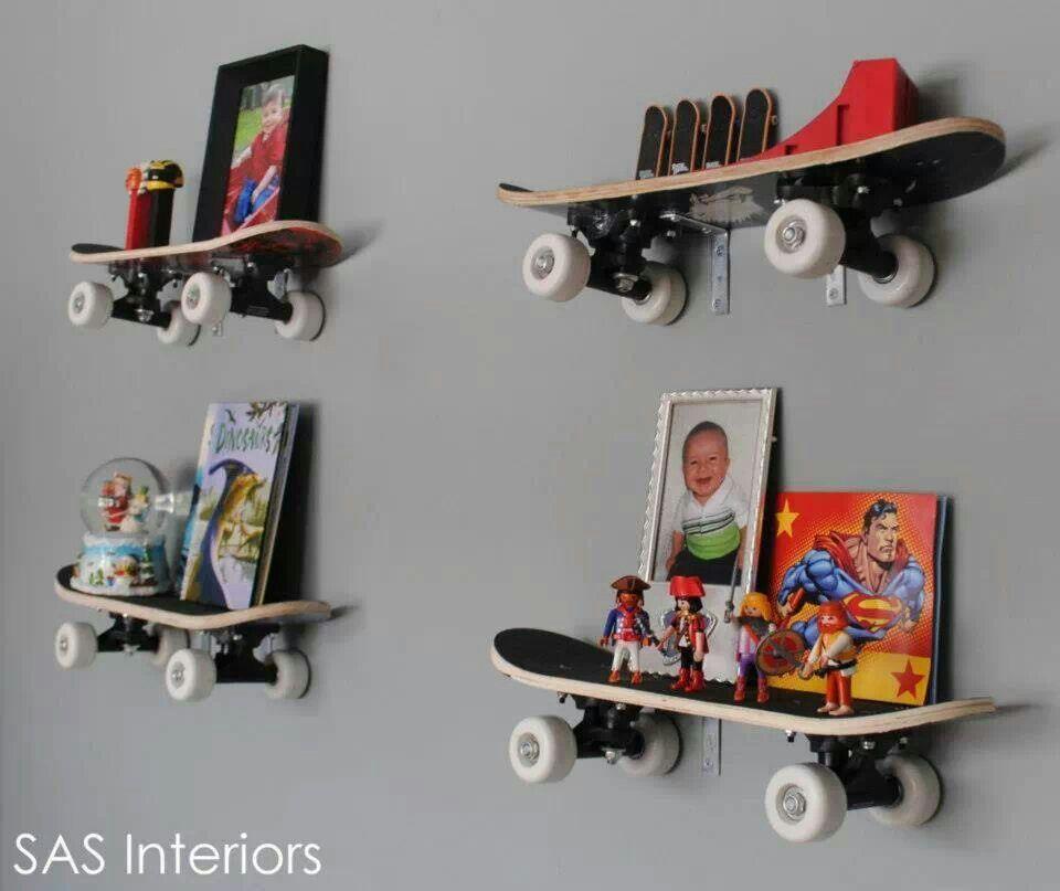 skateboard shelves 587 pinterest. Black Bedroom Furniture Sets. Home Design Ideas