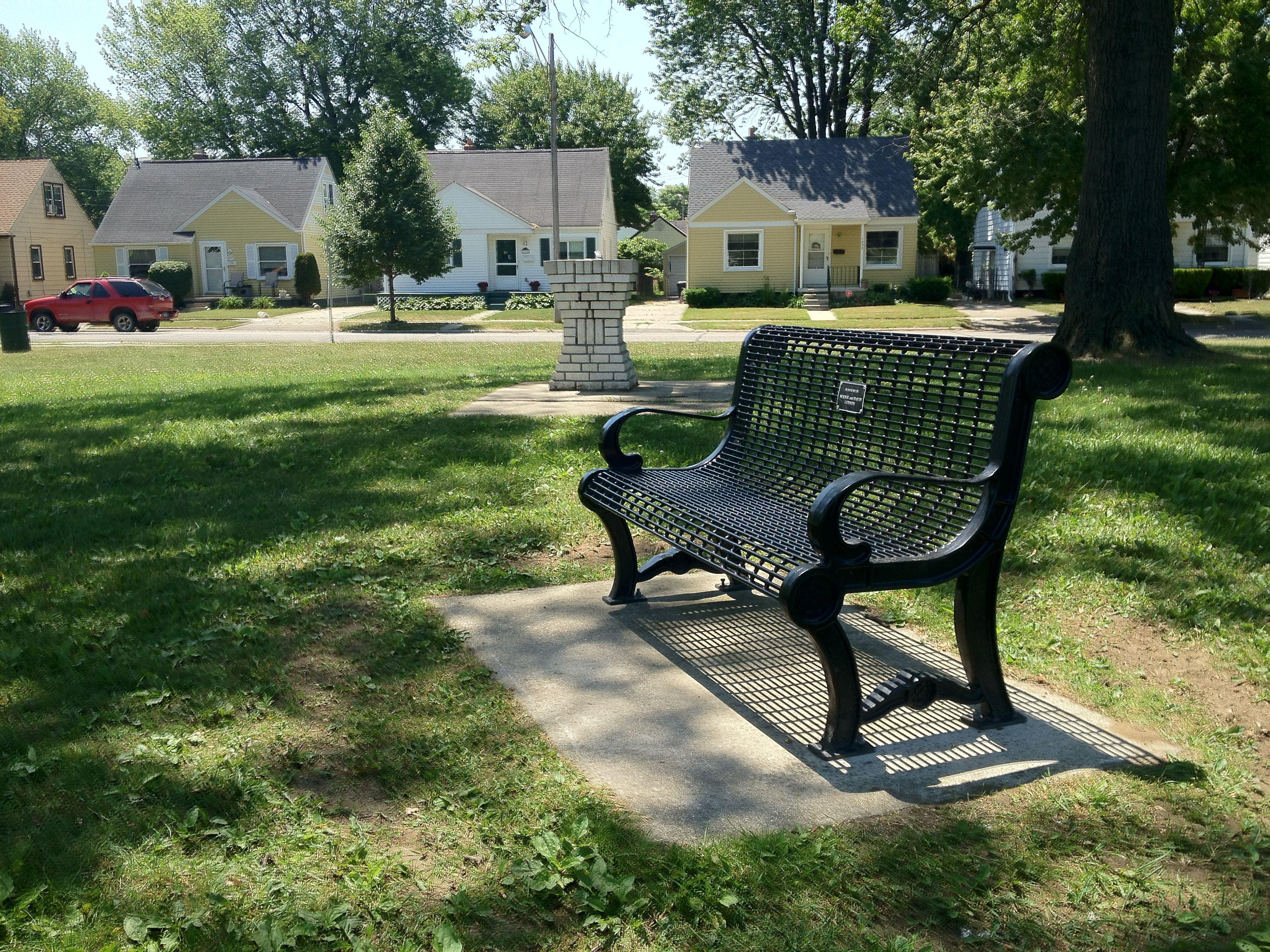Lennon Memorial Park Bench City Parks Pinterest