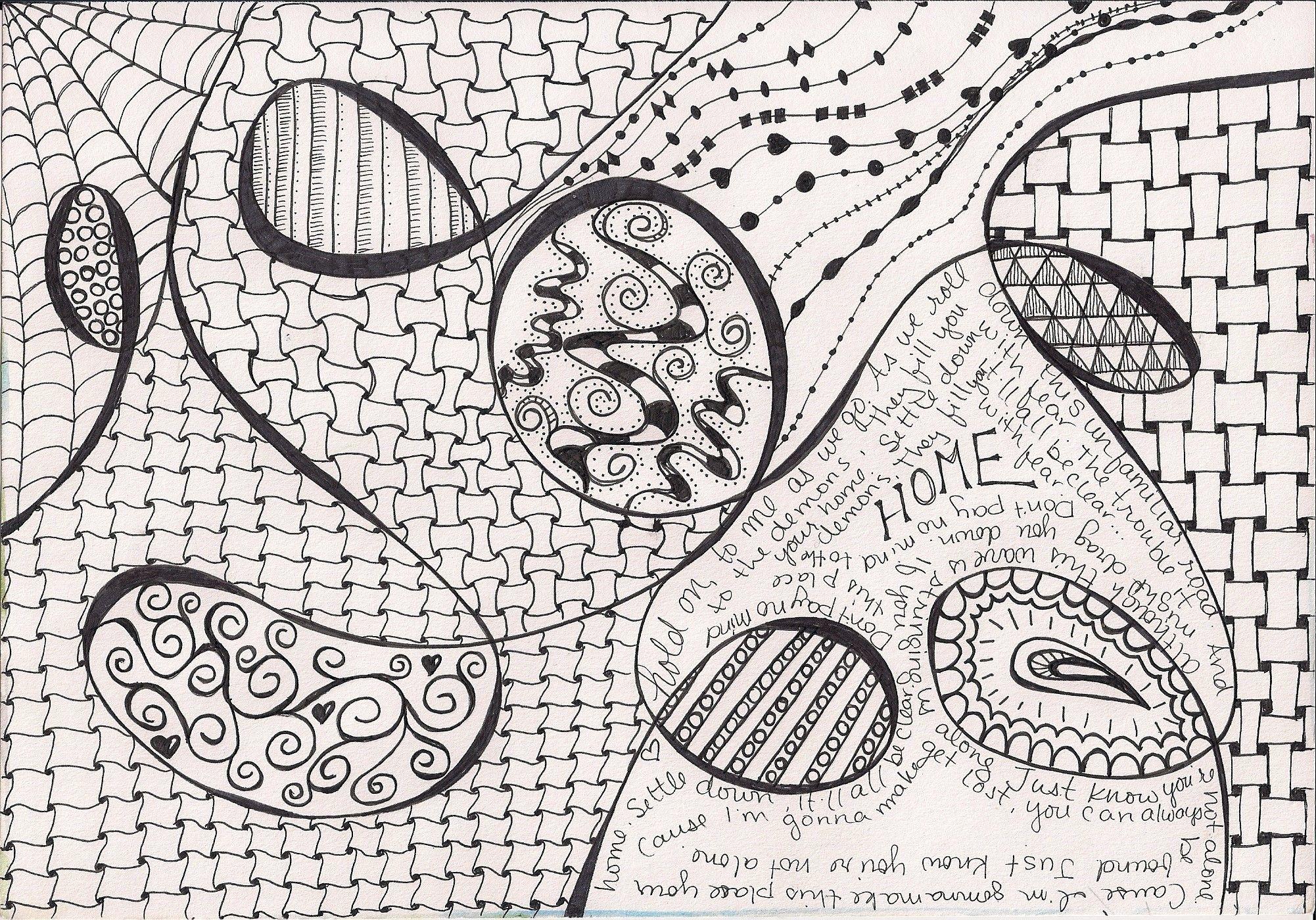 Zentangle zentangle patterns pinterest for Basic doodle designs