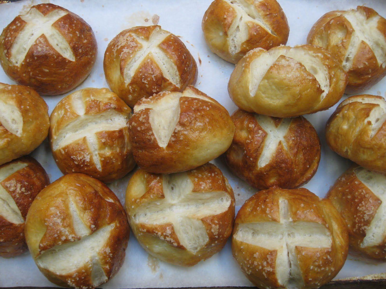 Pretzel rolls | Breakfast, breads, & baking | Pinterest