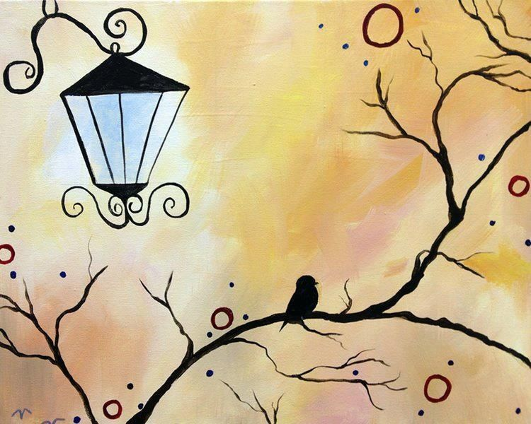 Things To Paint Tree Branch Relaxing Art Pinterest