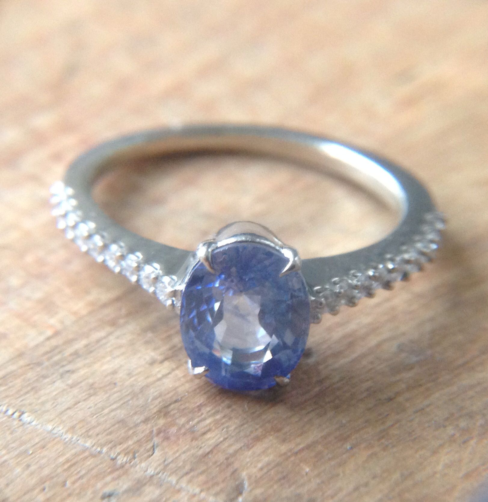 Light blue sapphire engagement ring RINGing Out the Love