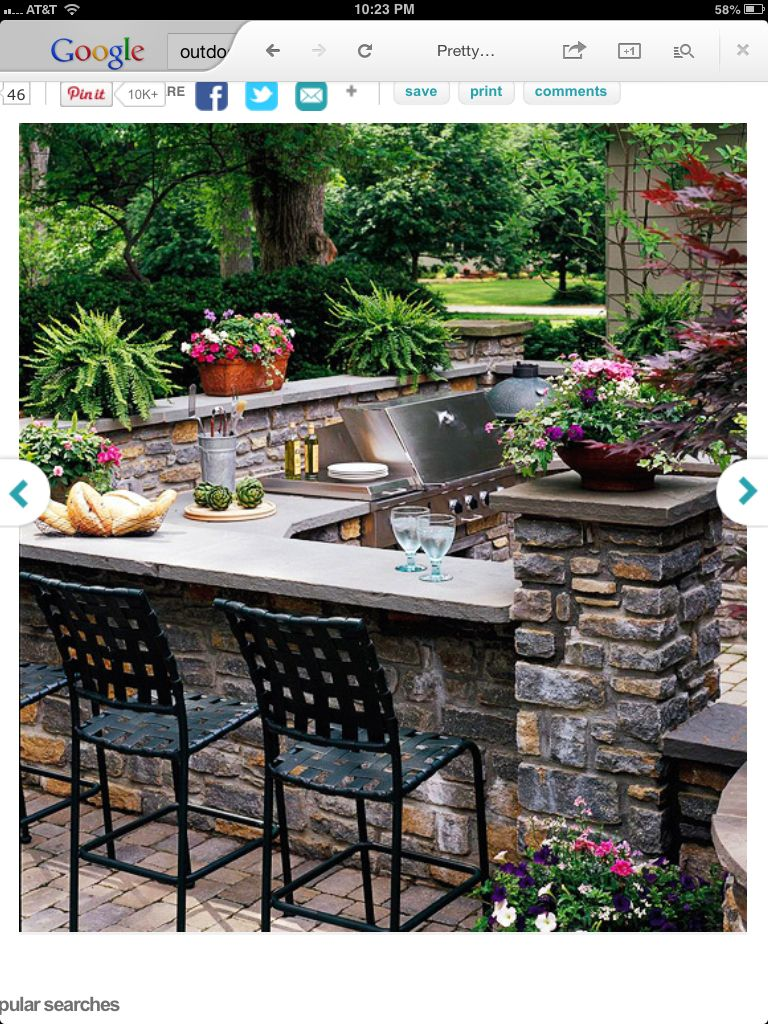 outdoor kitchen pool ideas pinterest