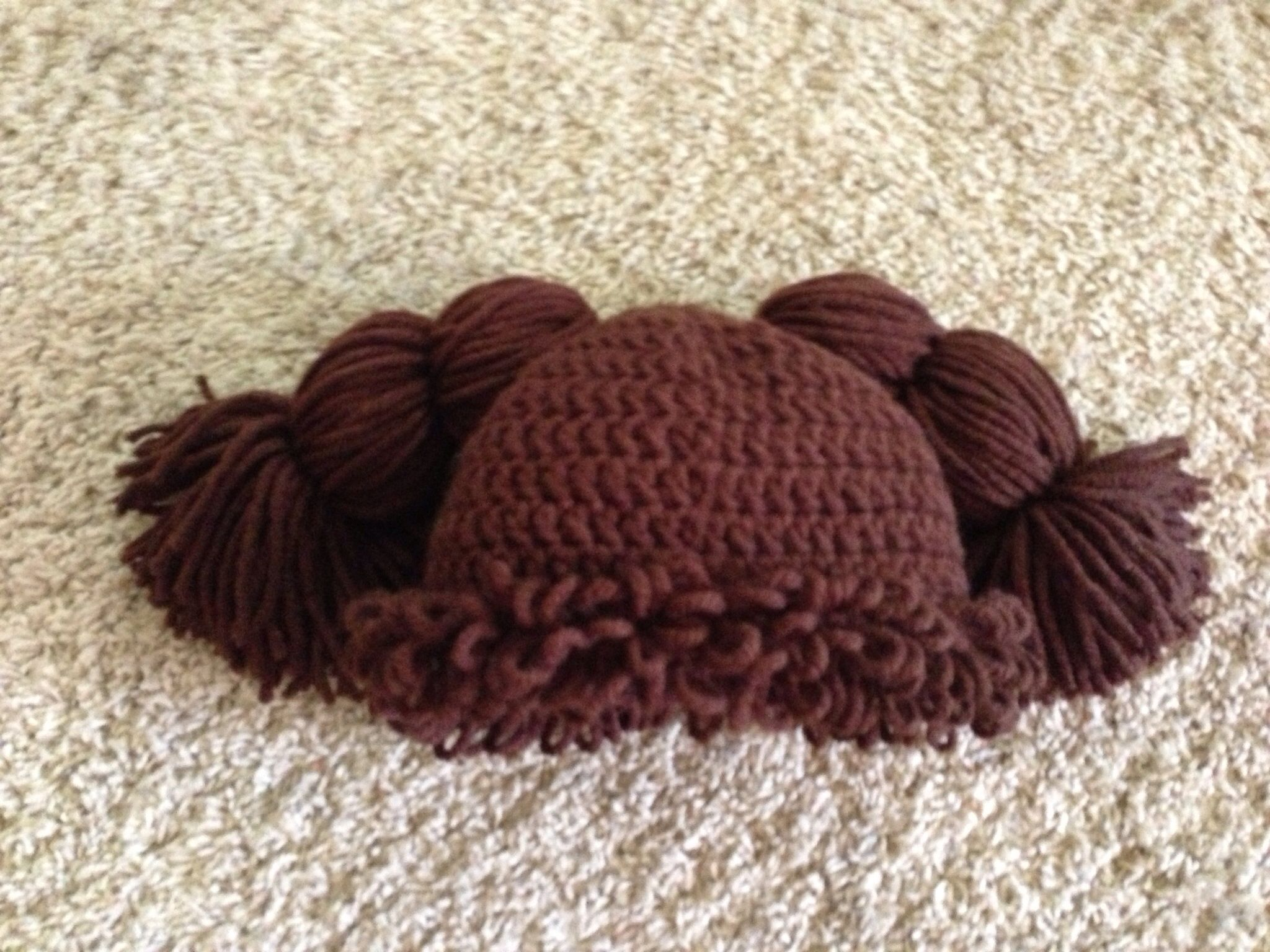 Free Pattern Crochet Cabbage Patch Hat : Cabbage Patch crochet hat. crochet Pinterest