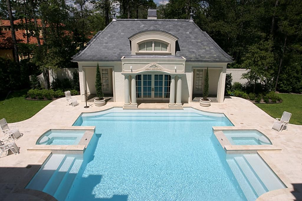 Sweet pool with pool guest house better have a nice 401k for Houses that have pools