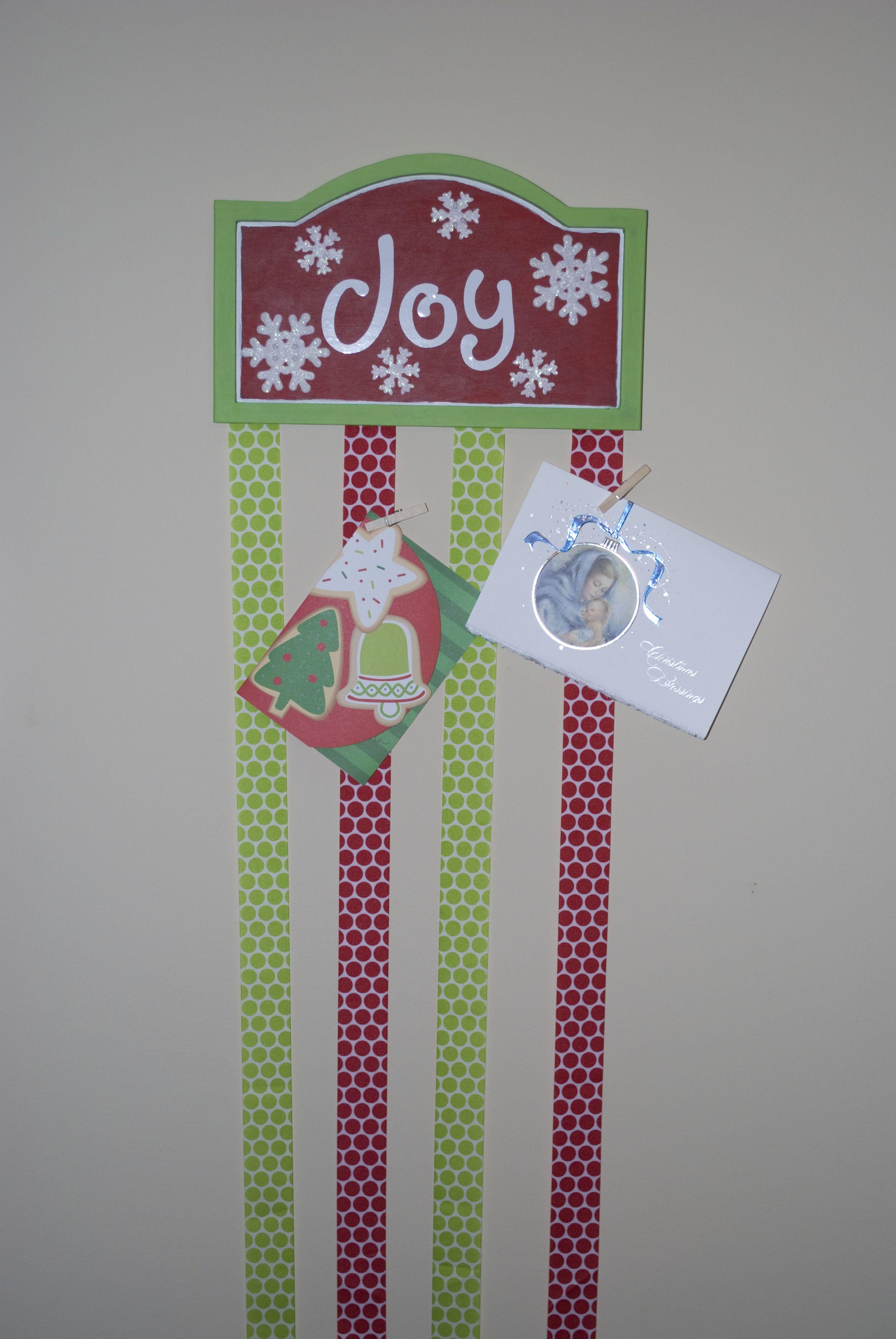 Christmas Card Holder Crafts Pinterest