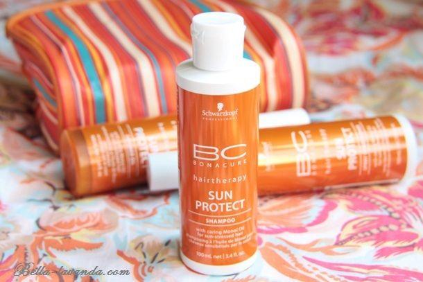 Защита волос от солнца и моря