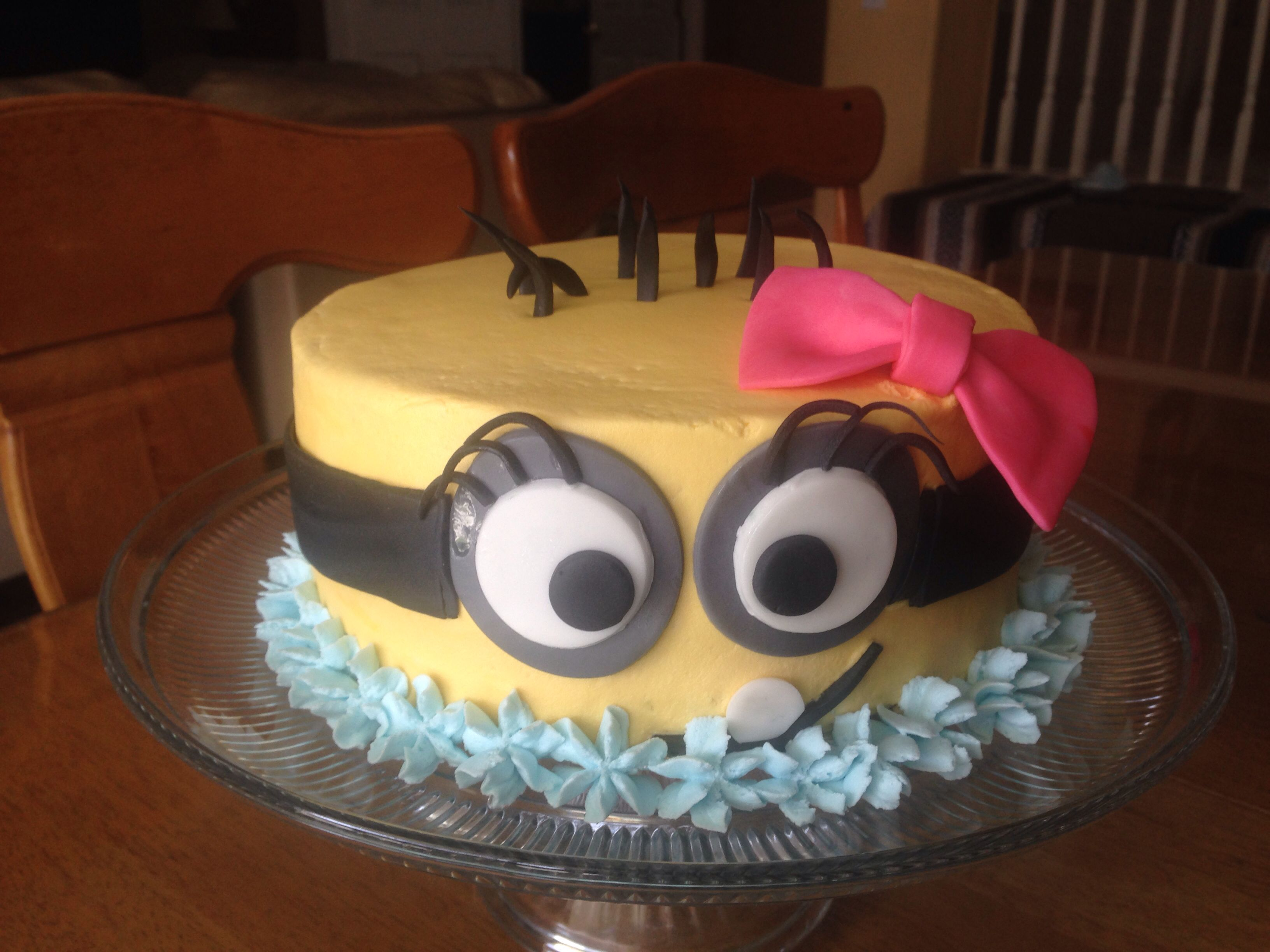 Girl Minion Cake Kids birthday cakes Pinterest