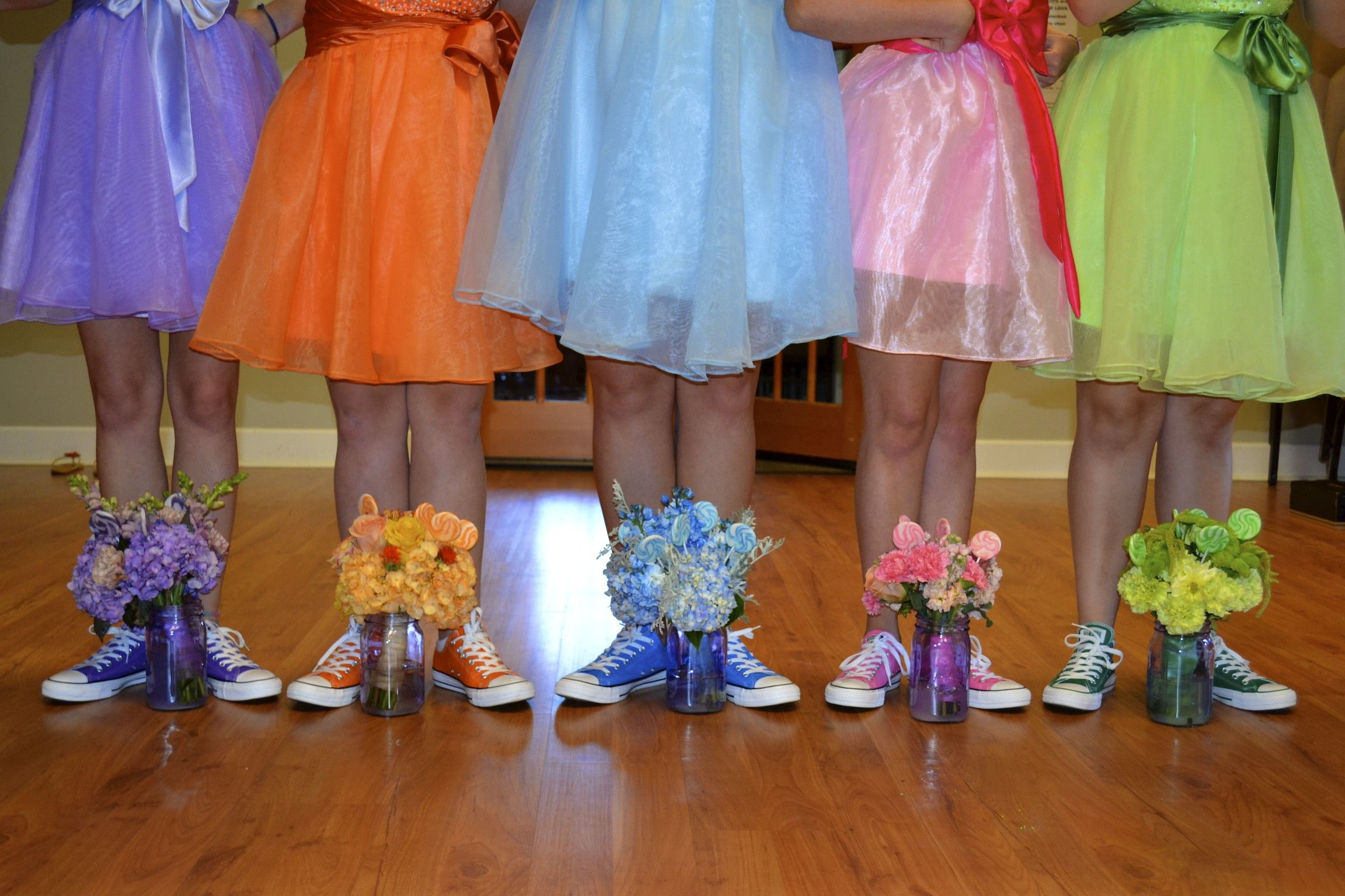 Bridesmaids wearing converse Our Wedding