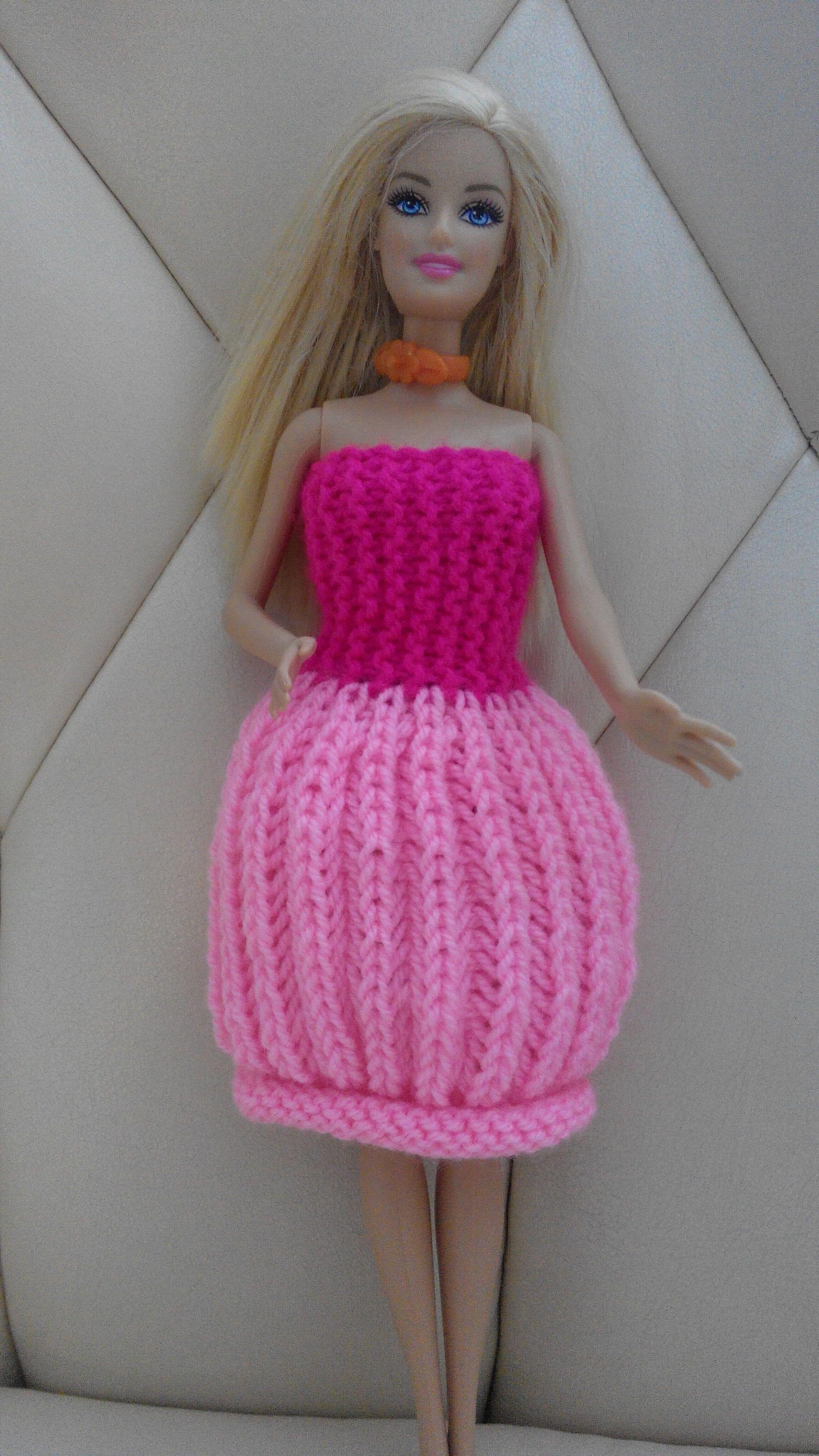 Вязание платьев на барби крючком 28