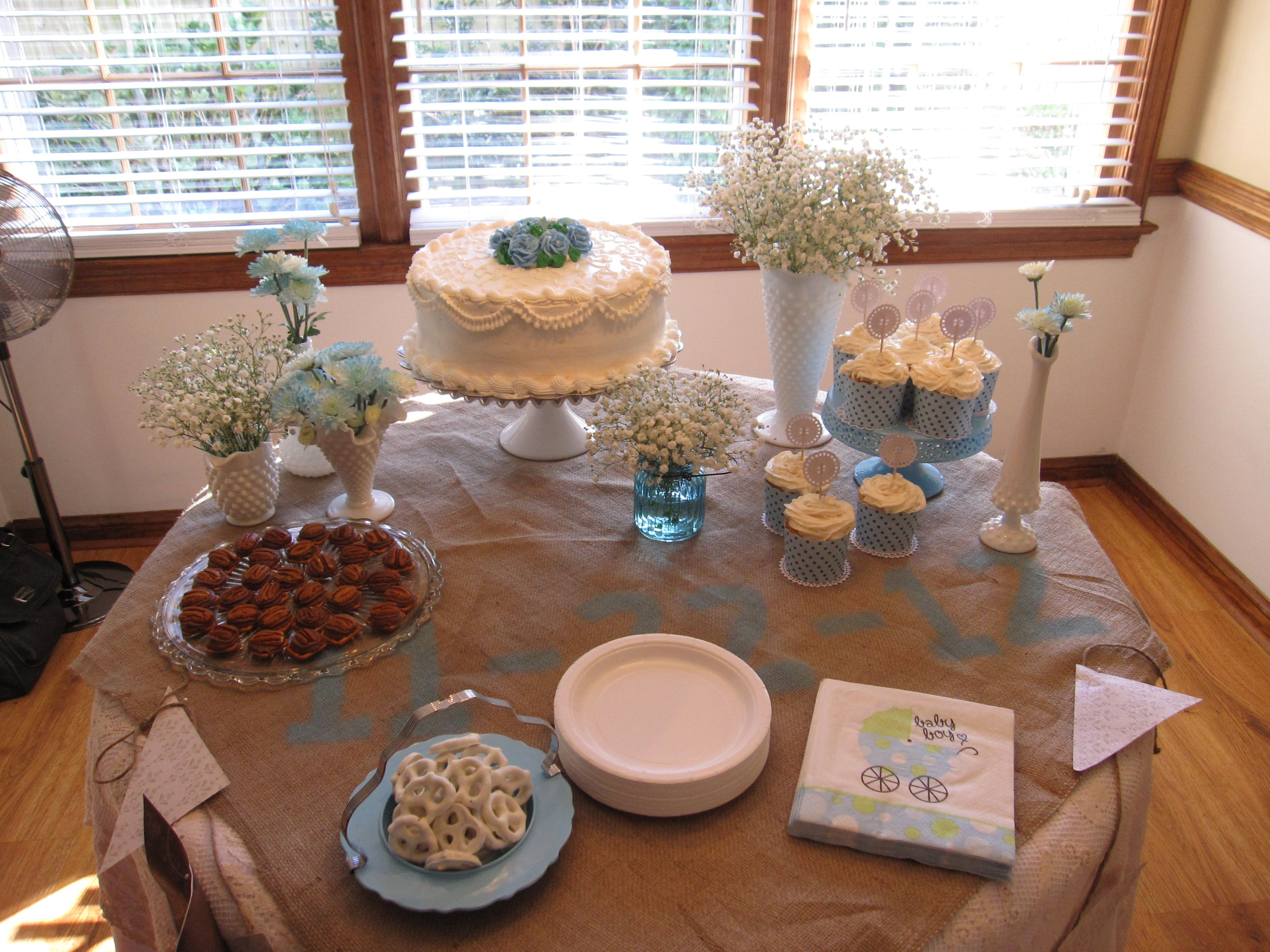 baby boy shower cake table lets throw a party pinterest