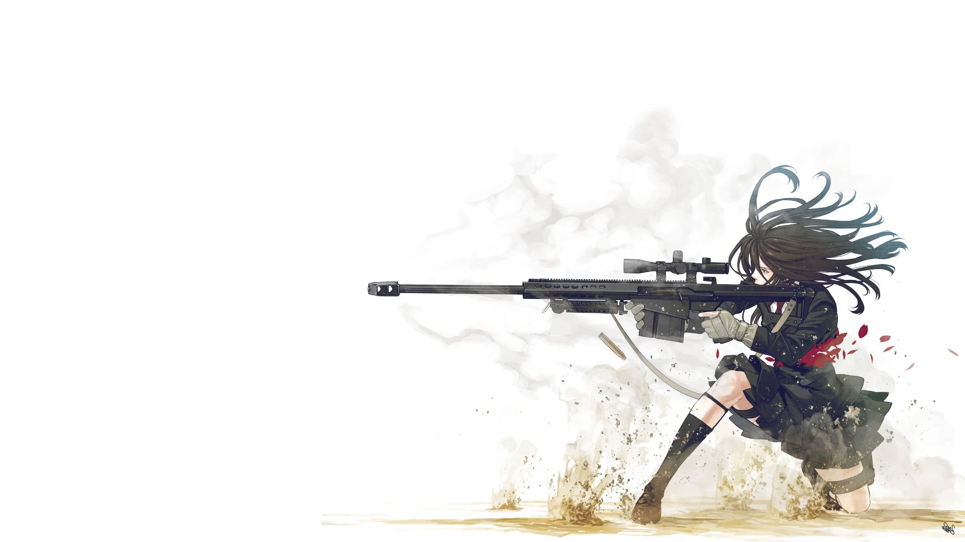 Anime Girl With Gun Hd Wallpaper X Girl