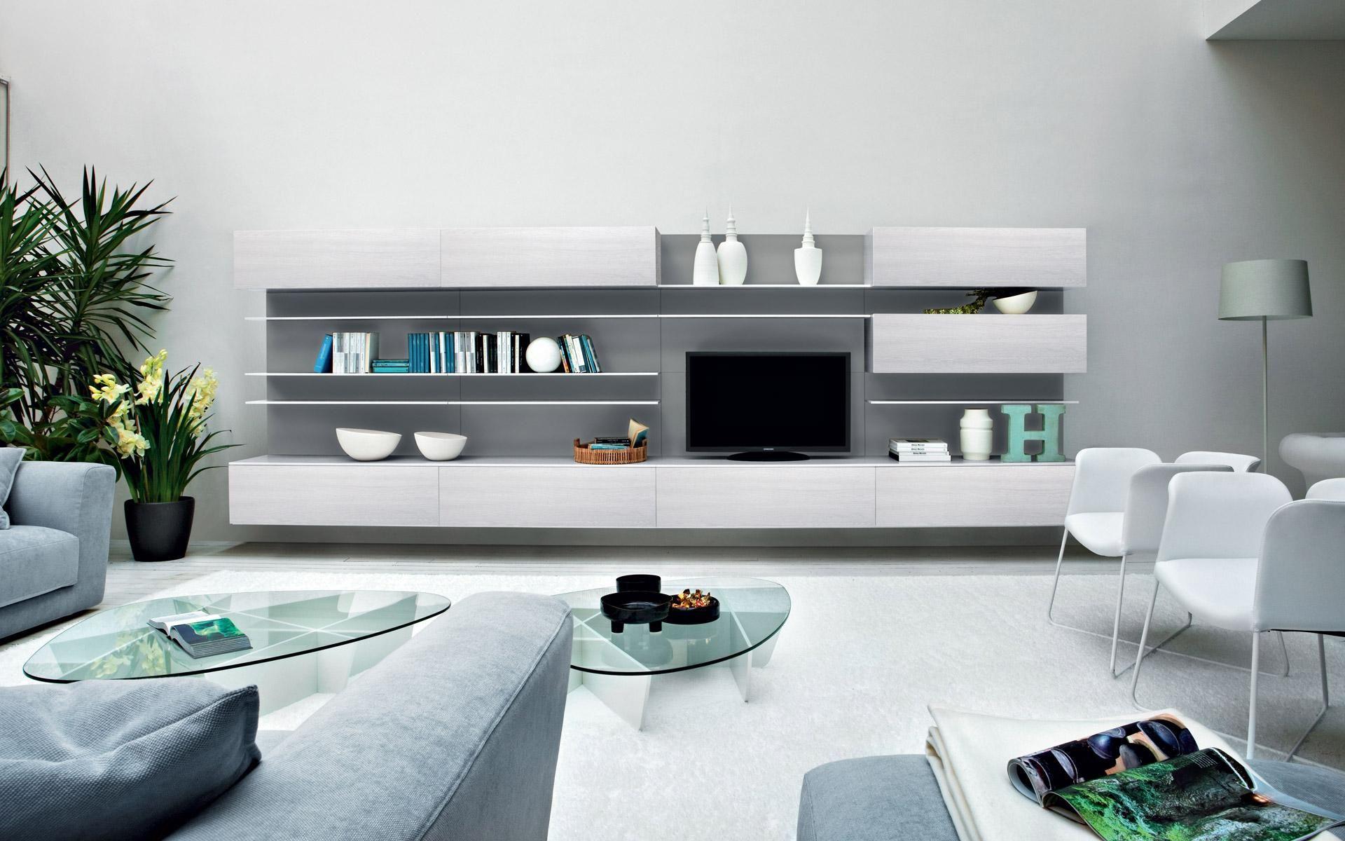Foto arredo soggiorno moderno 47