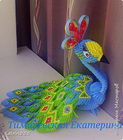 Мастер класс по модульному оригами павлин лебедь