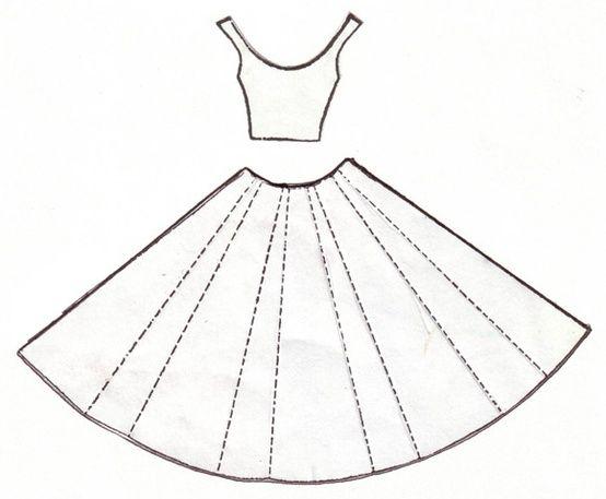 Открытка скрапбукинг платье шаблон 82