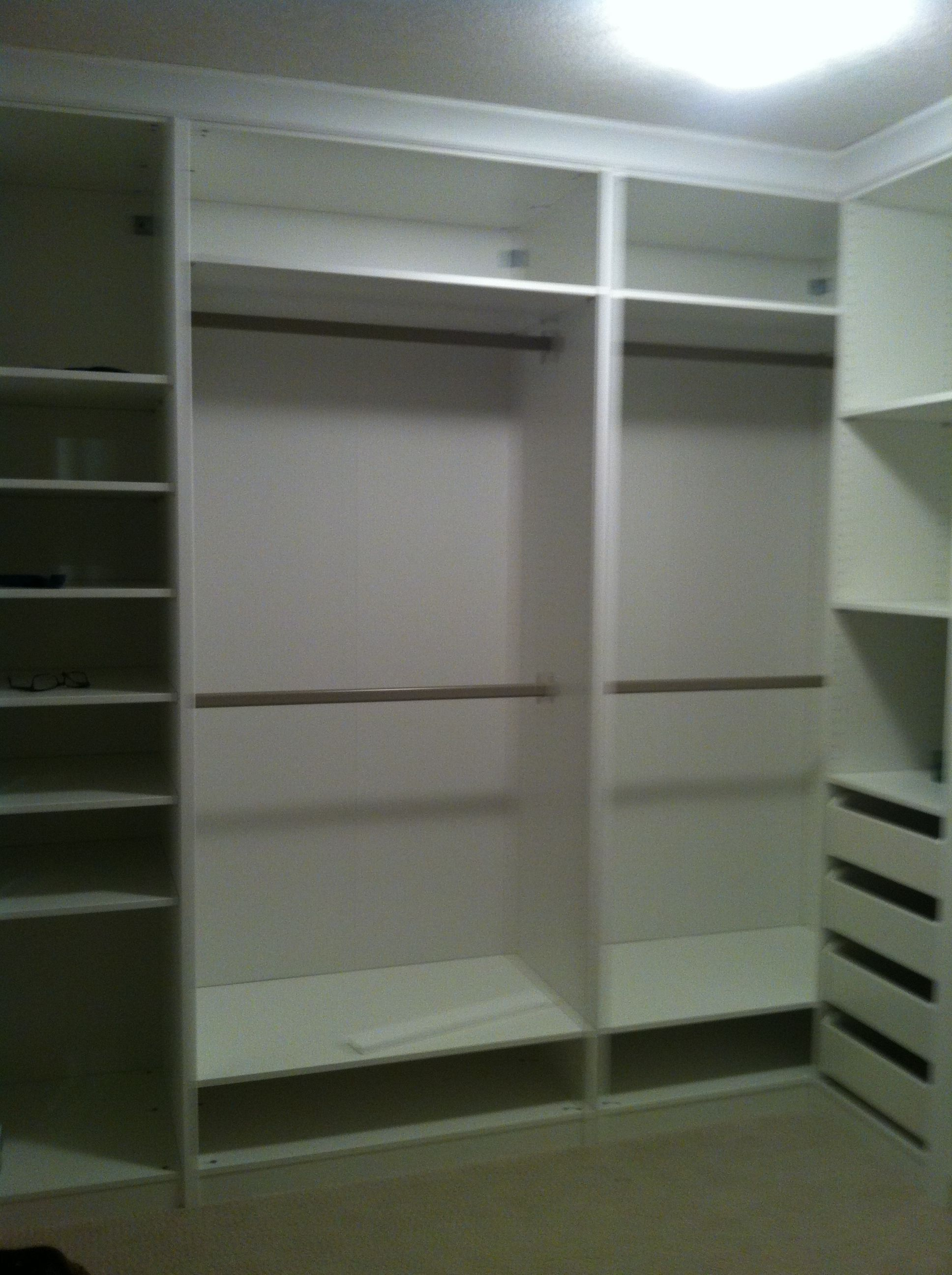 ikea built in closet new home pinterest