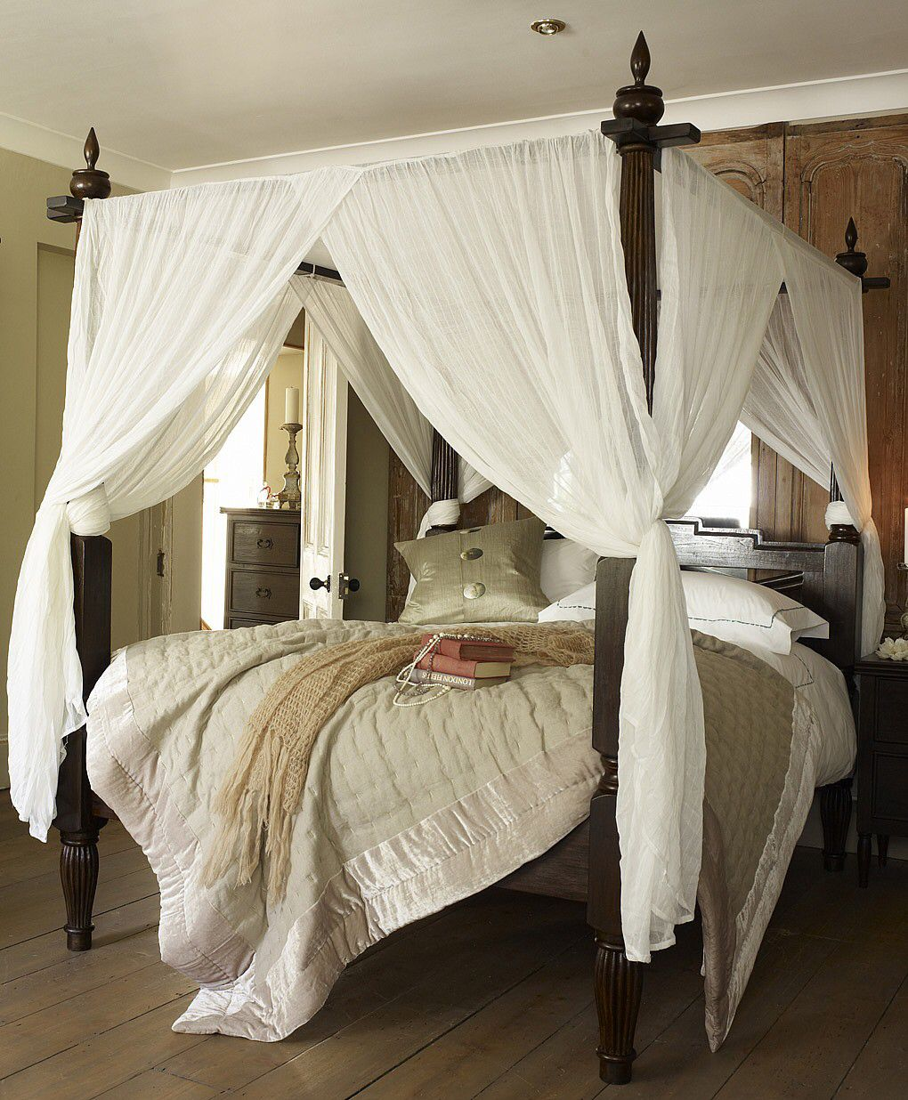 Black canopy bed curtains - Rustic Canopy Bed Bedroom Pinterest