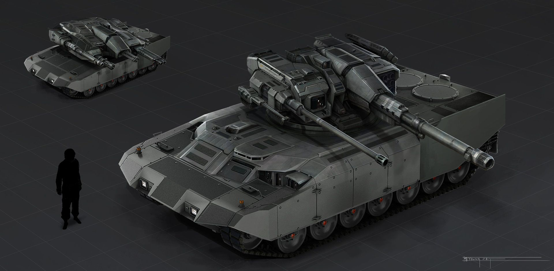 Artstation Sentinel Tank Concept Muyoung Kim Mbt Tread Pinterest Vehicle Sci Fi And