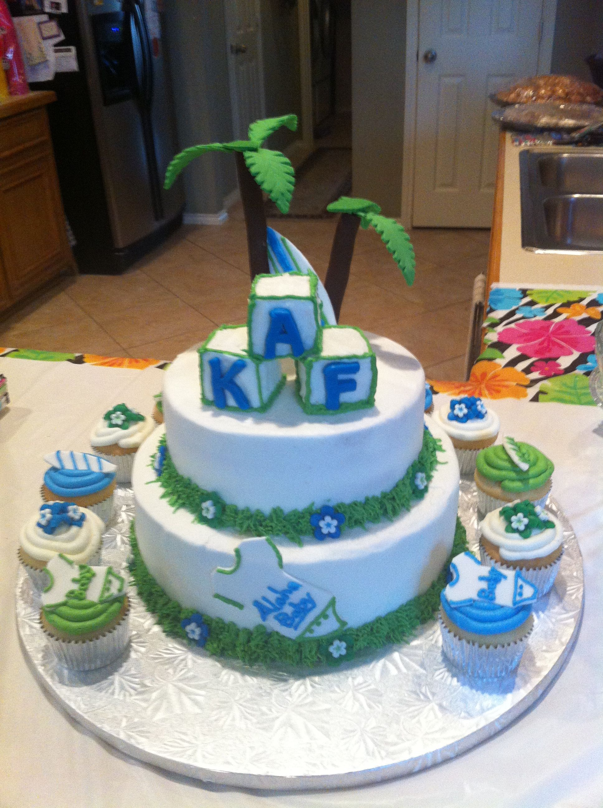 hawaiian baby shower cake baby showers pinterest