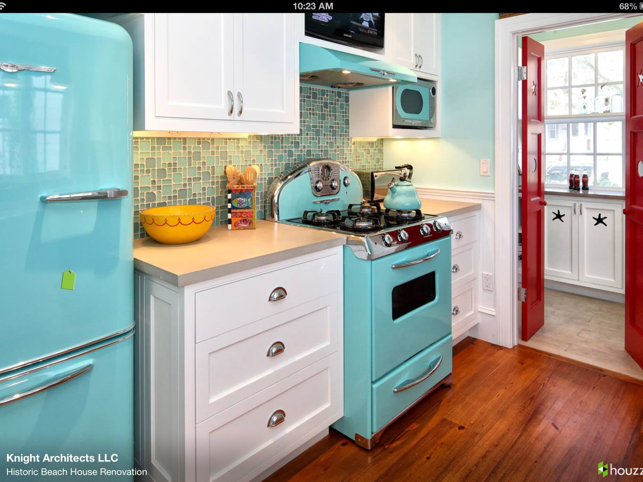 Love the turquoise appliances everything turquoise for Dream kitchen appliances