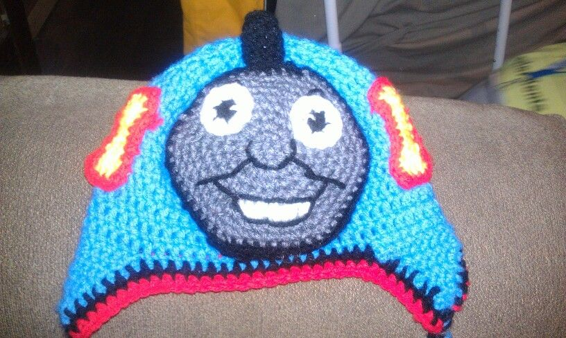 Free Crochet Hat Pattern For Thomas The Train : Thomas the Train Crochet Hat Completed Crochet Projects ...