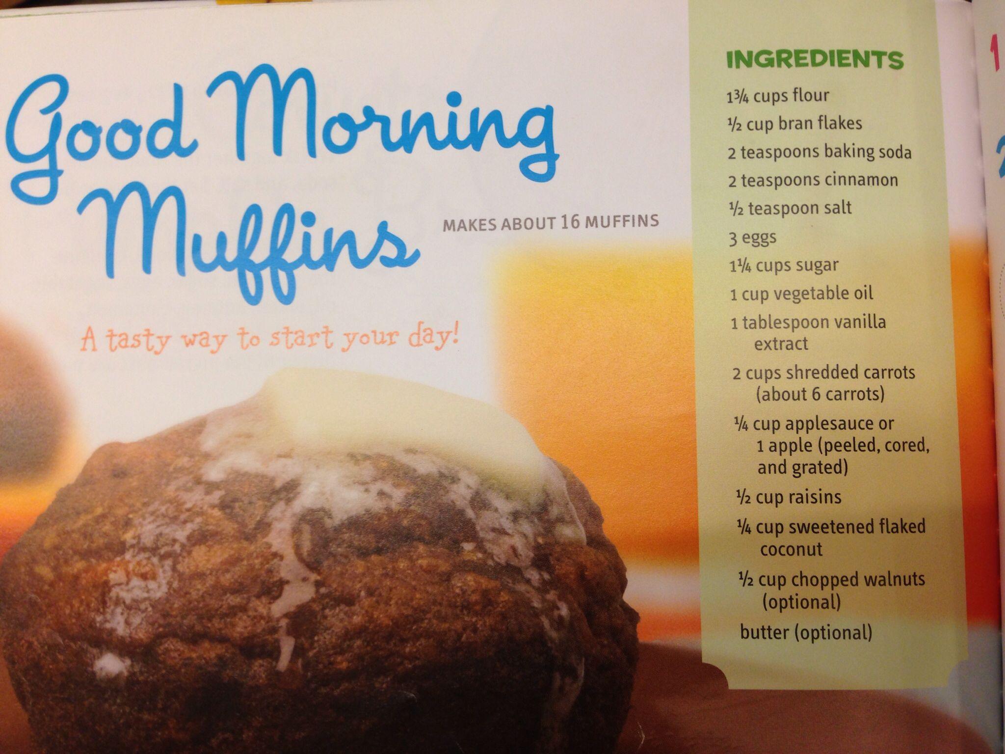Good Morning Muffins | Recipes: Breakfast | Pinterest