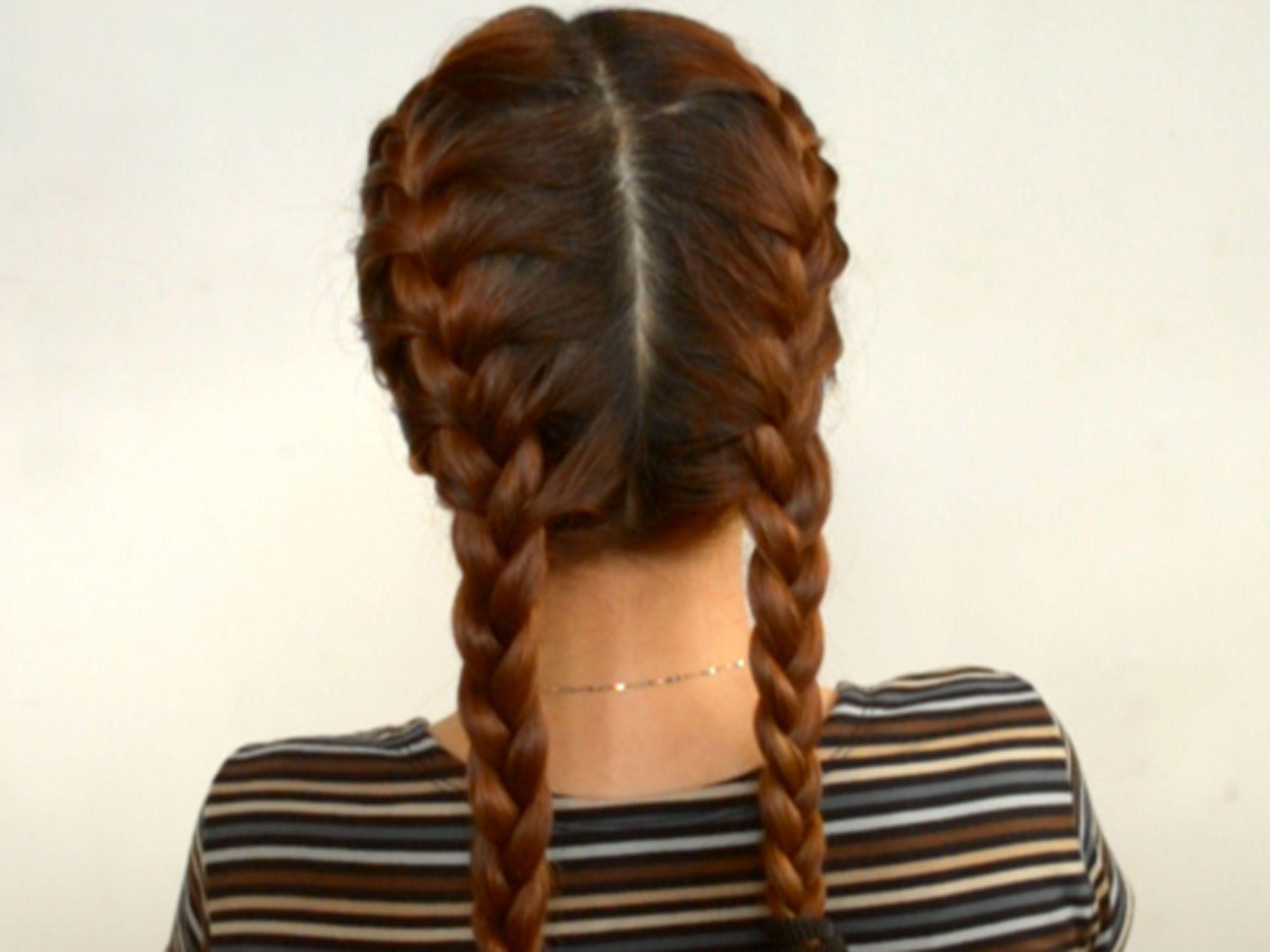 Прическа две косы по бокам