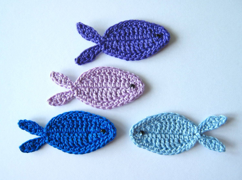 Вязание крючком рыбки 67