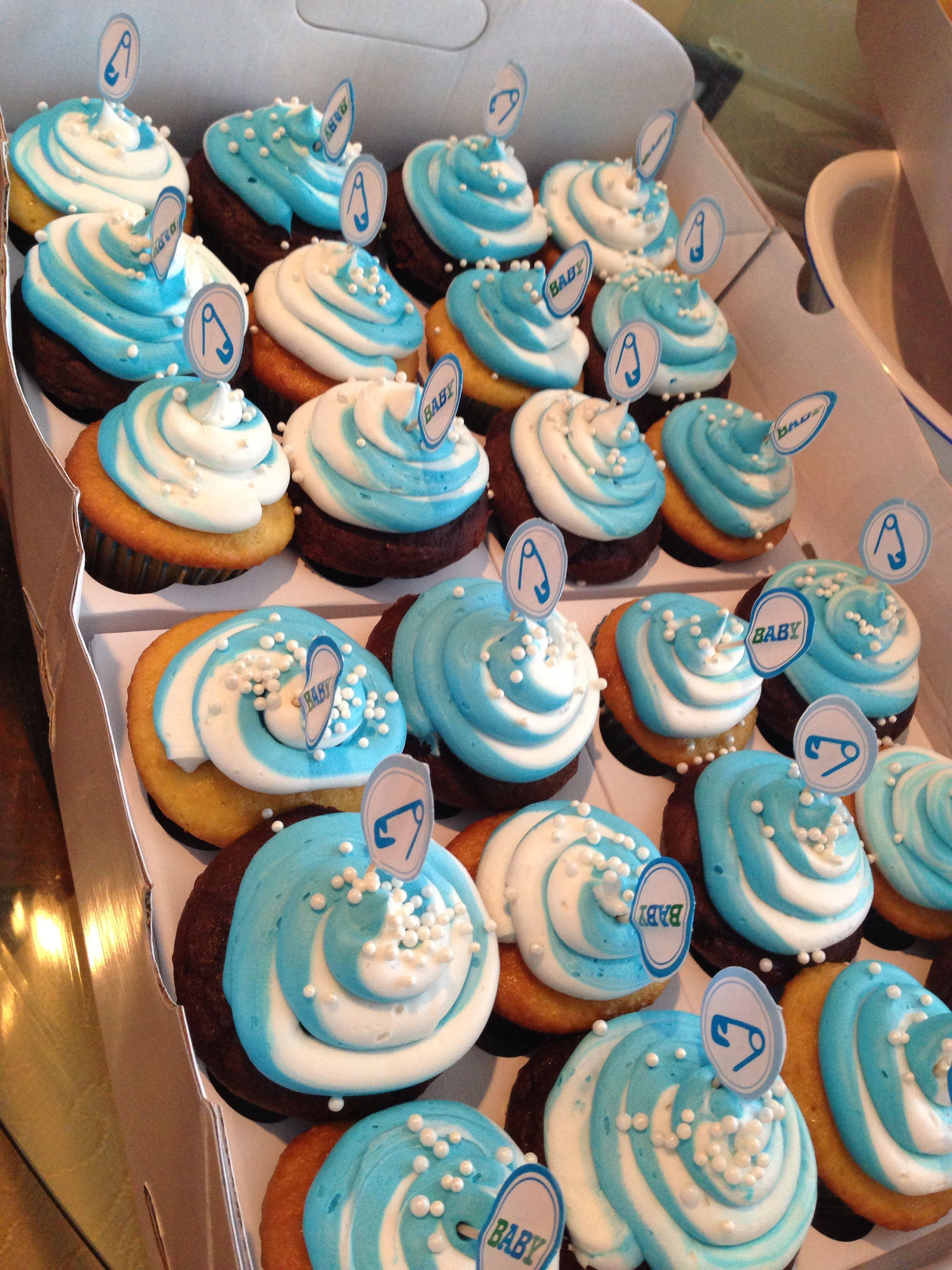 baby boy baby shower cupcakes baby pinterest