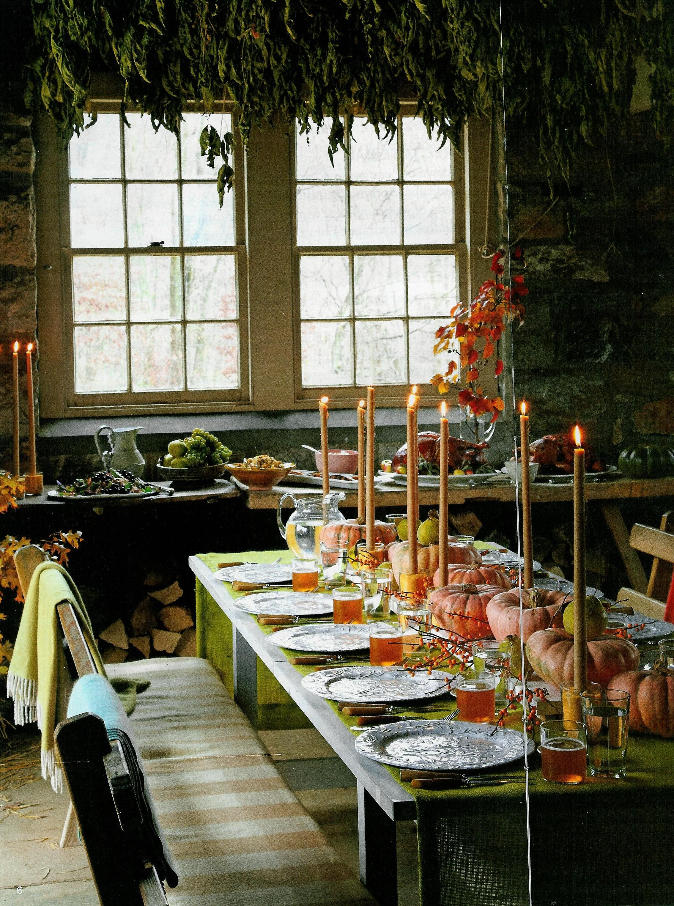 creativecandles at kathryn leach home Thanksgiving Table Settings