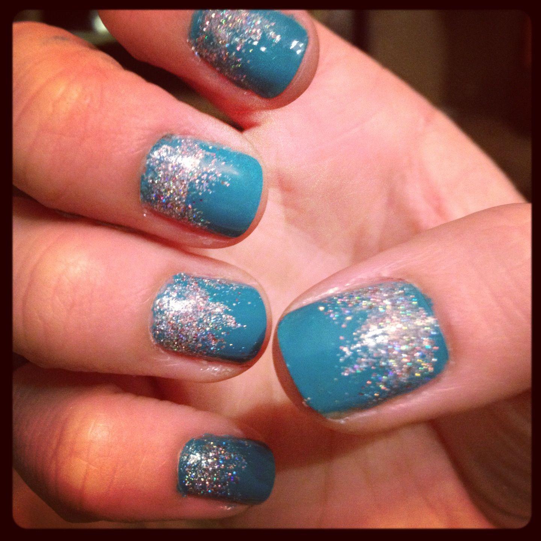 Ombre Nail Art: Ombre Glitter Nails