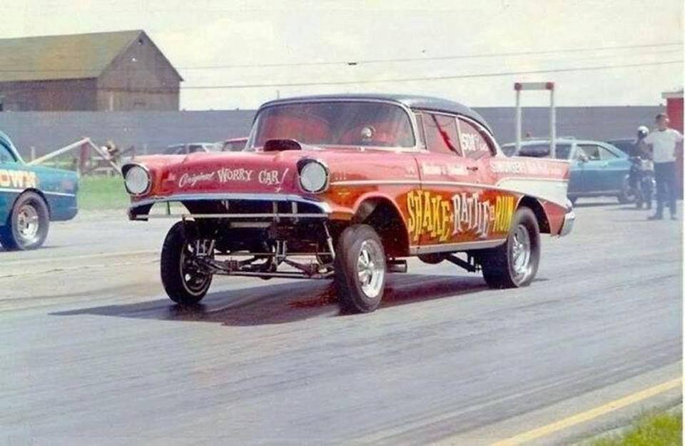 57 Chevy Gasser Drag Racing Pinterest