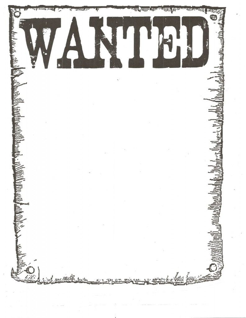Wanted poster template free for word