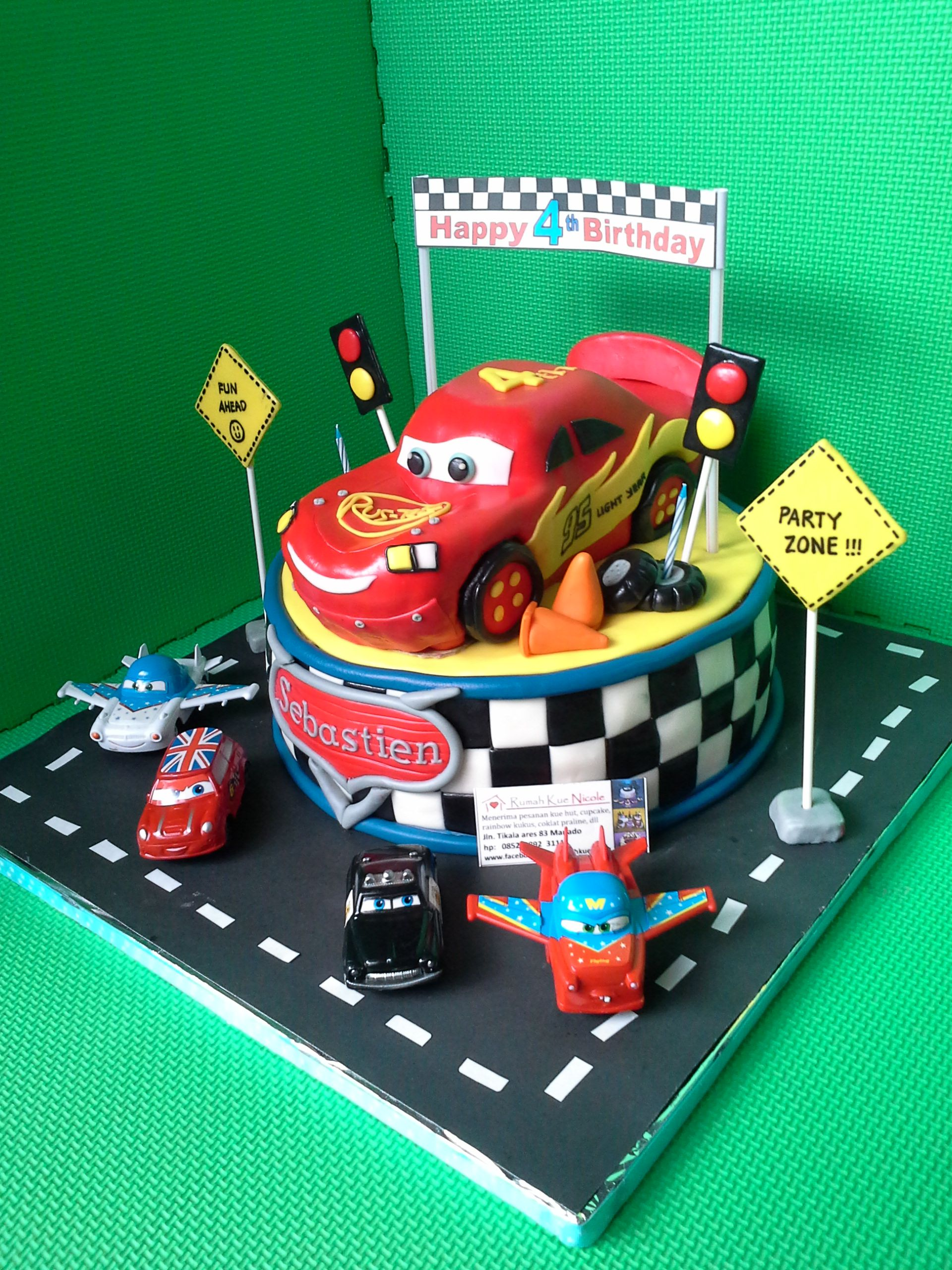 disney cars birthday cake for sebastien cakes Pinterest