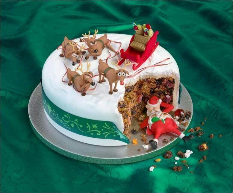 .Cute funny cake Christmas Pinterest