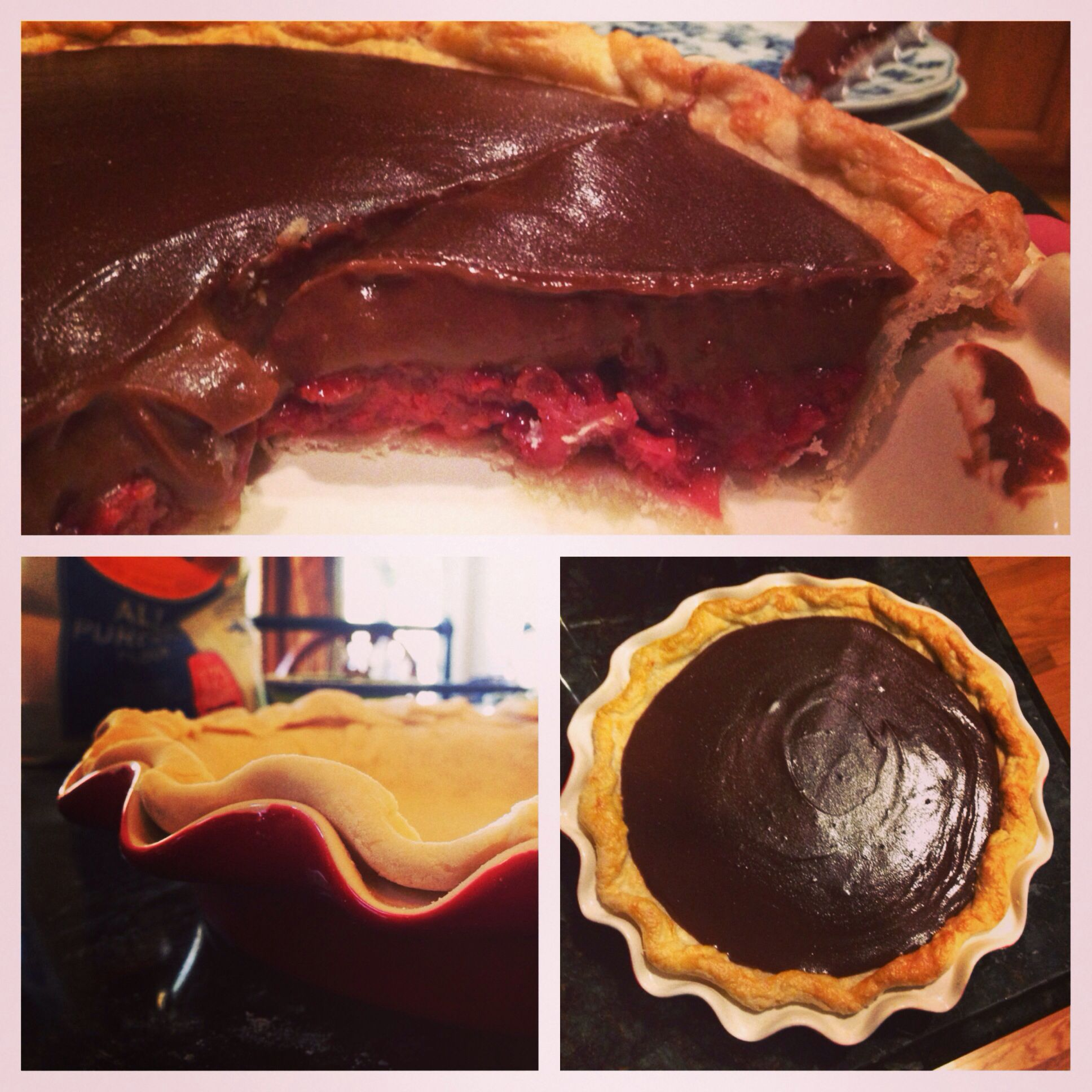 Chocolate strawberry pie | Receipts ... Pies/Galettes/Tarts | Pintere ...