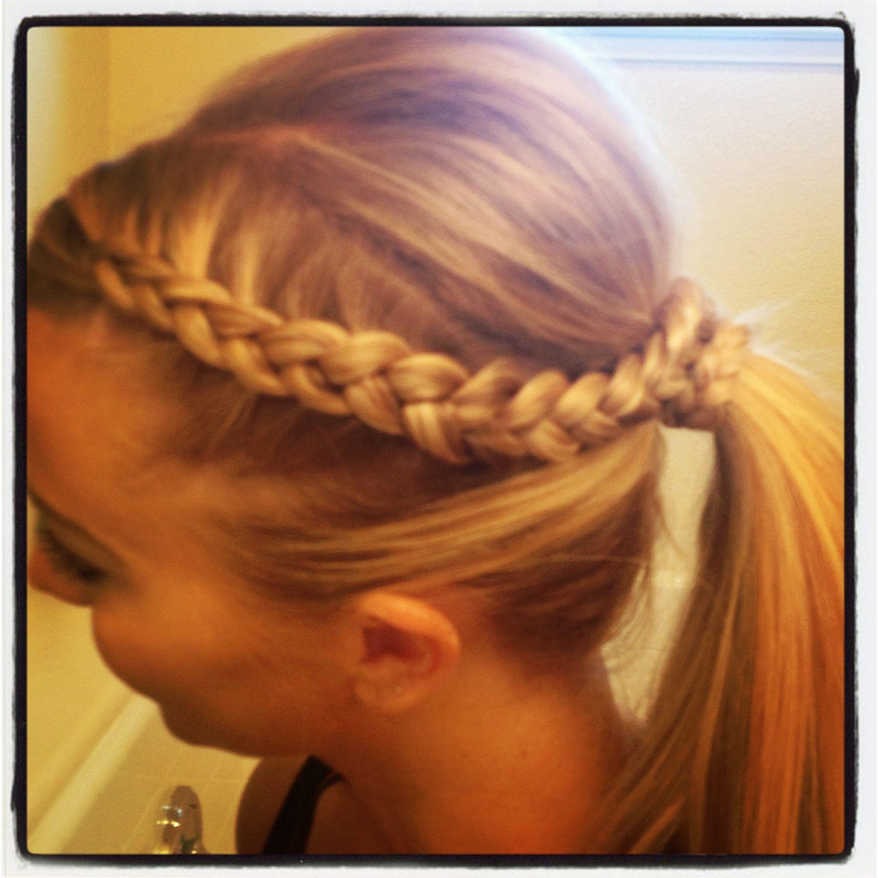 Gym hair - easy braid pony | Hair And Beauty | Pinterest