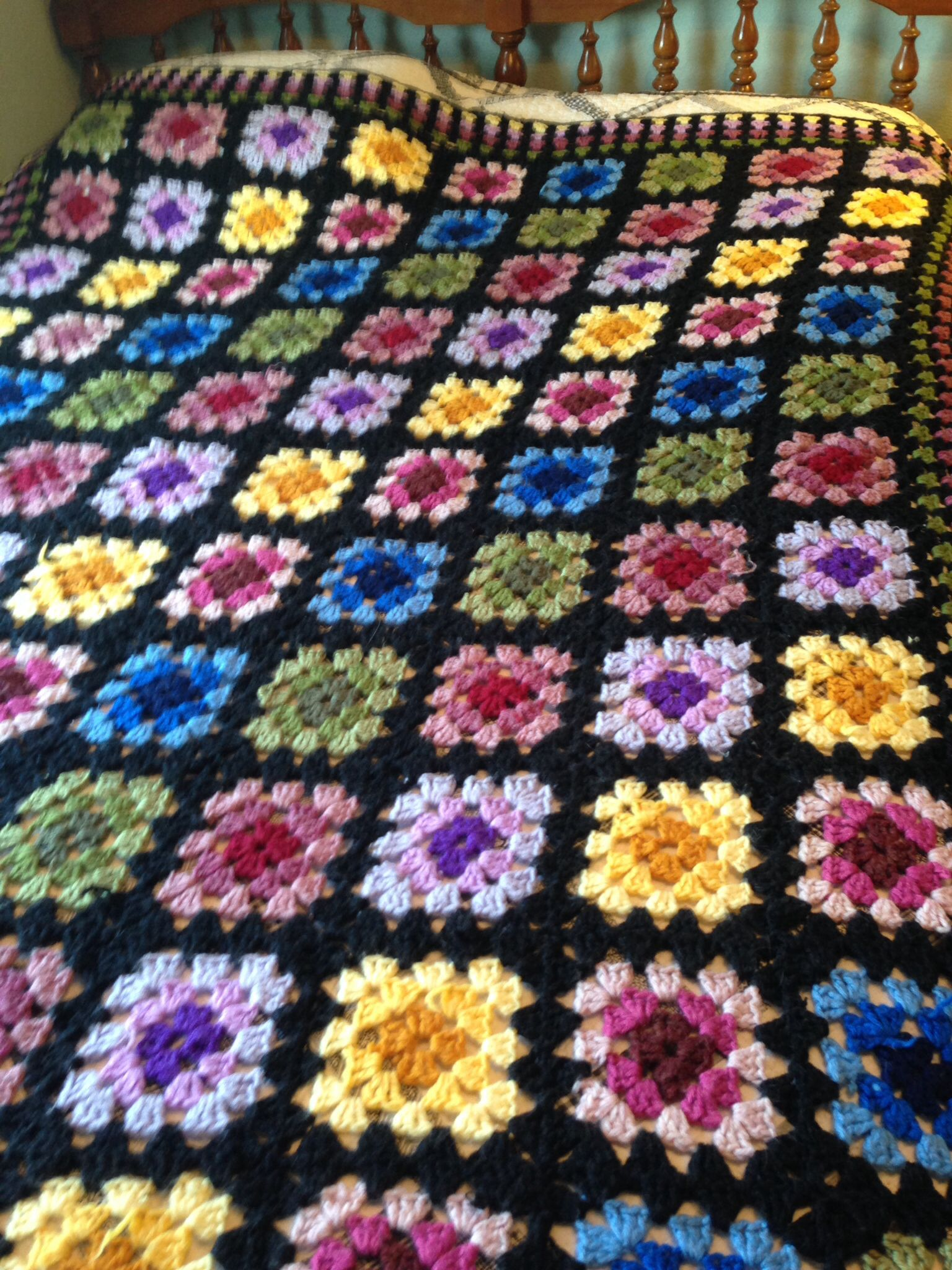 Granny square afghan Crochet Afghans Pinterest