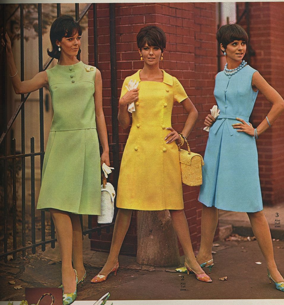 Мода 60 годов платья