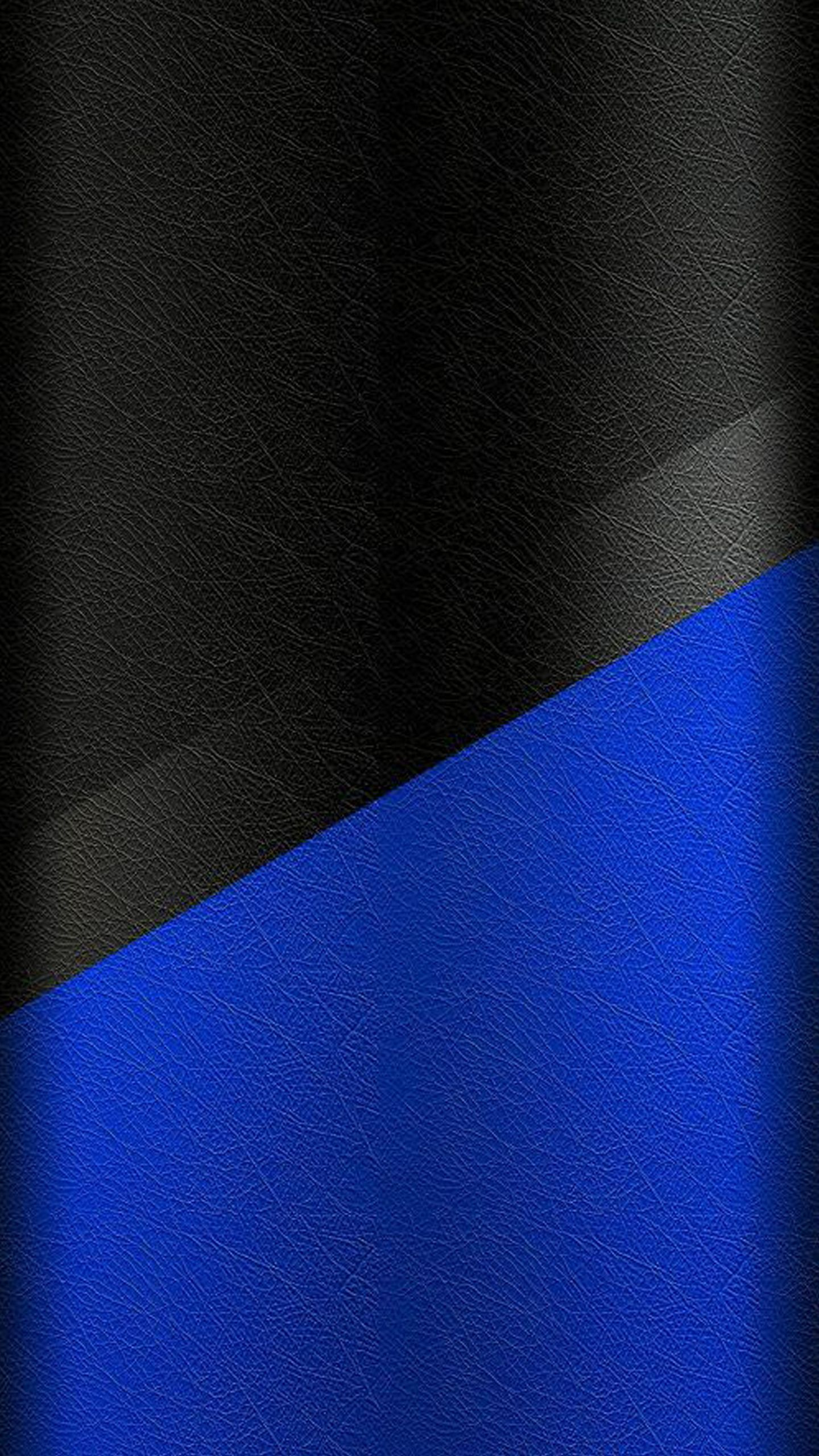 Dark S7 Edge Wallpaper 02 Black And Blue Leather Pattern Háttér
