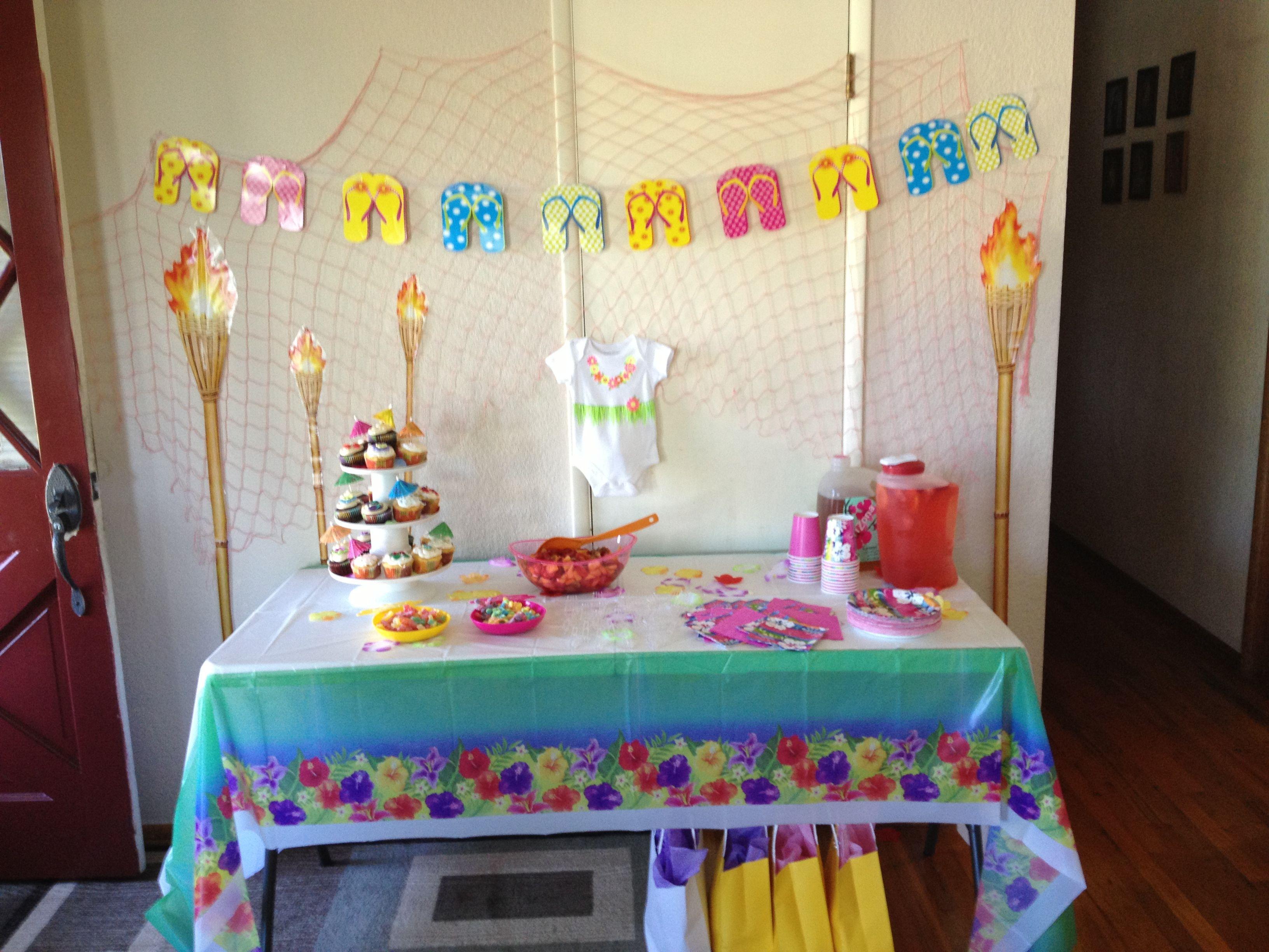 hawaiian themed baby shower amanda 39 s girl makana pinterest