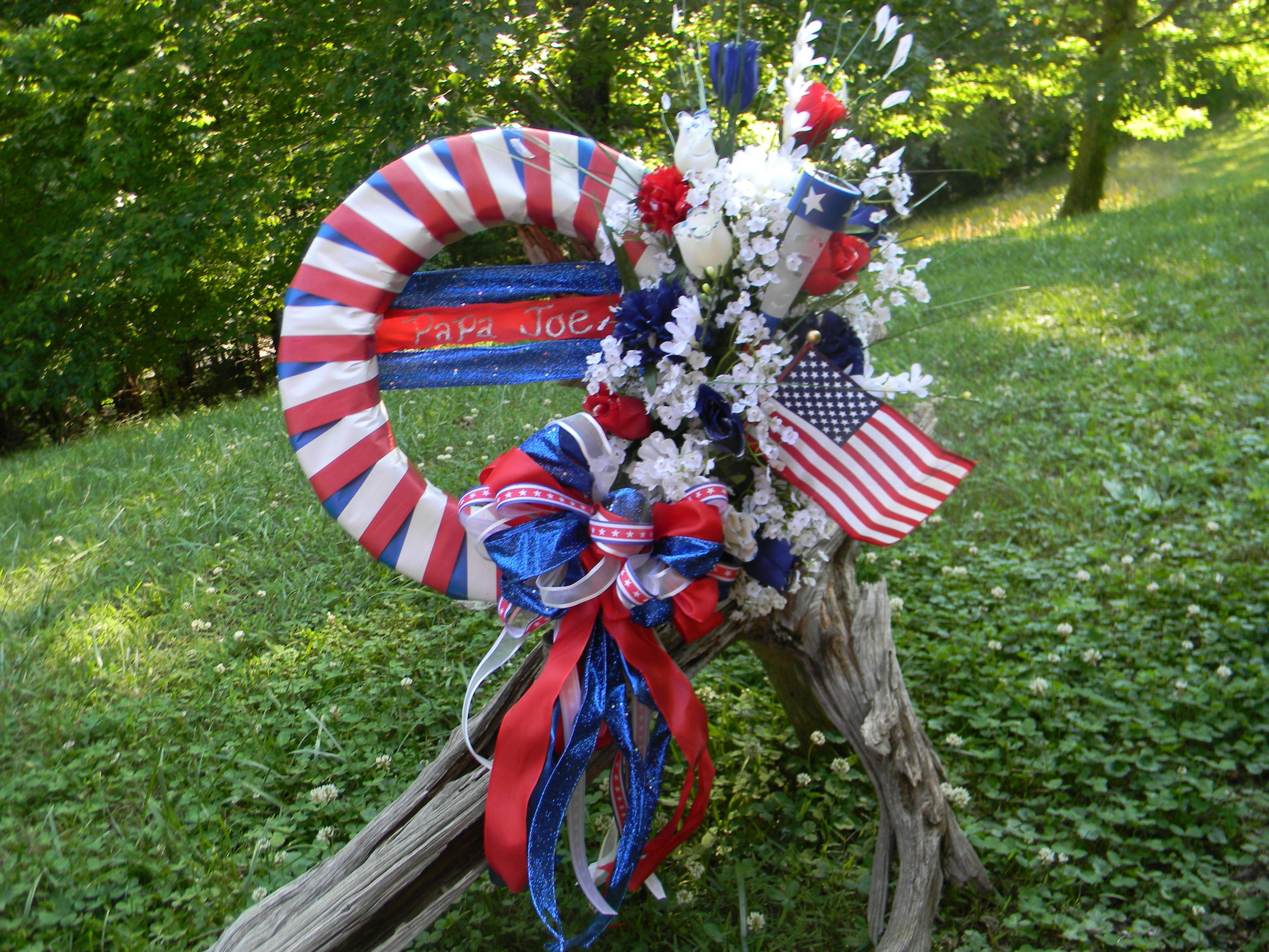 memorial day door wreaths