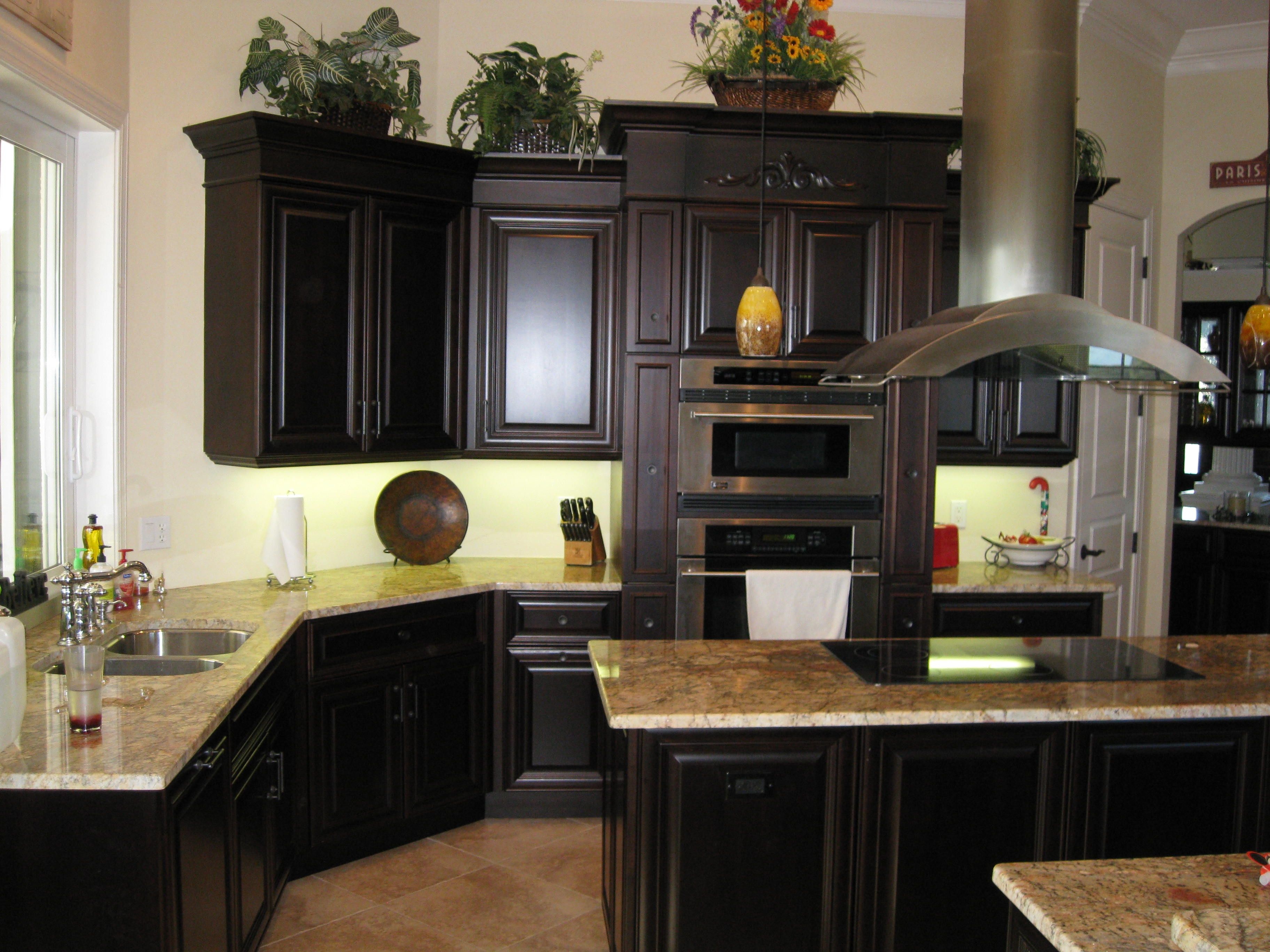 Black cherry finish kitchens pinterest for Black cherry kitchen cabinets