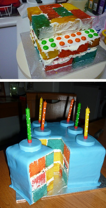 Lego cake on the inside and out recipes pinterest
