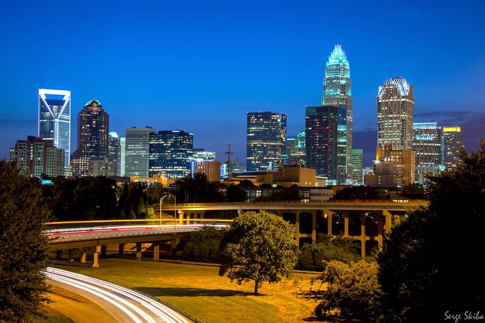 the queen city charlotte nc cities by night pinterest. Black Bedroom Furniture Sets. Home Design Ideas